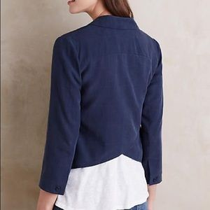 Anthropologie Blue Museo Blazer